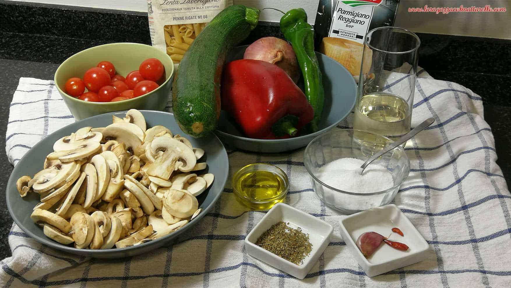 Pasta con verduras ~ Primeros Recetas  ~ La ragazza col mattarello