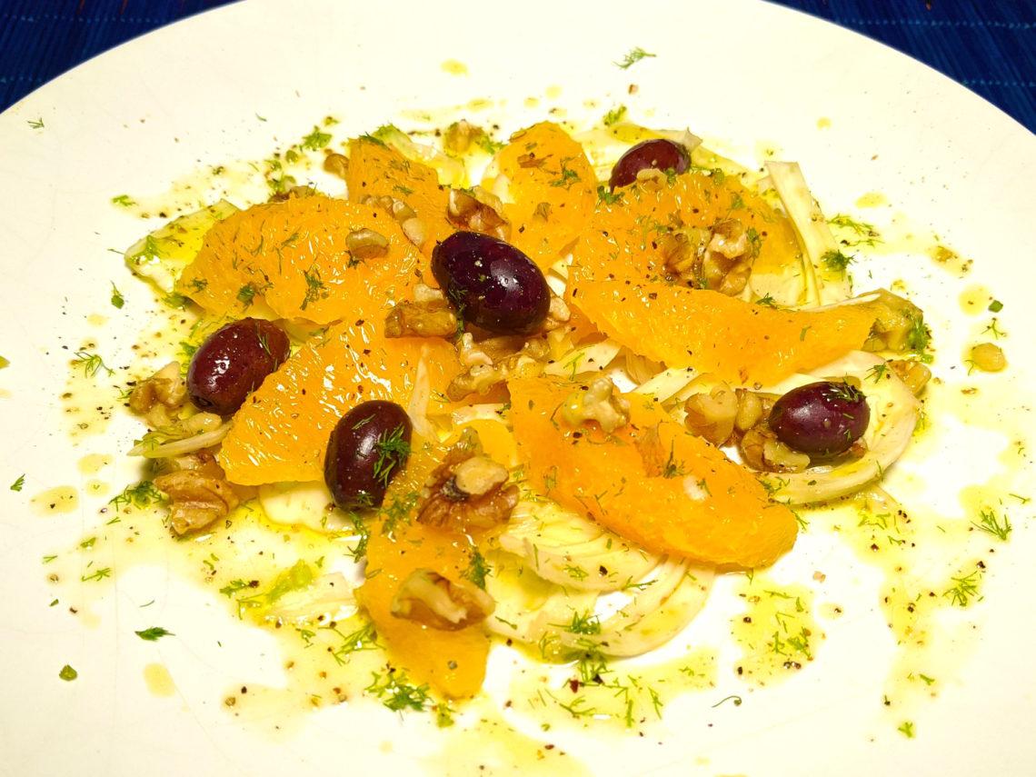 Ensalada de naranja y hinojo (insalata di arance e finocchi alla siciliana)