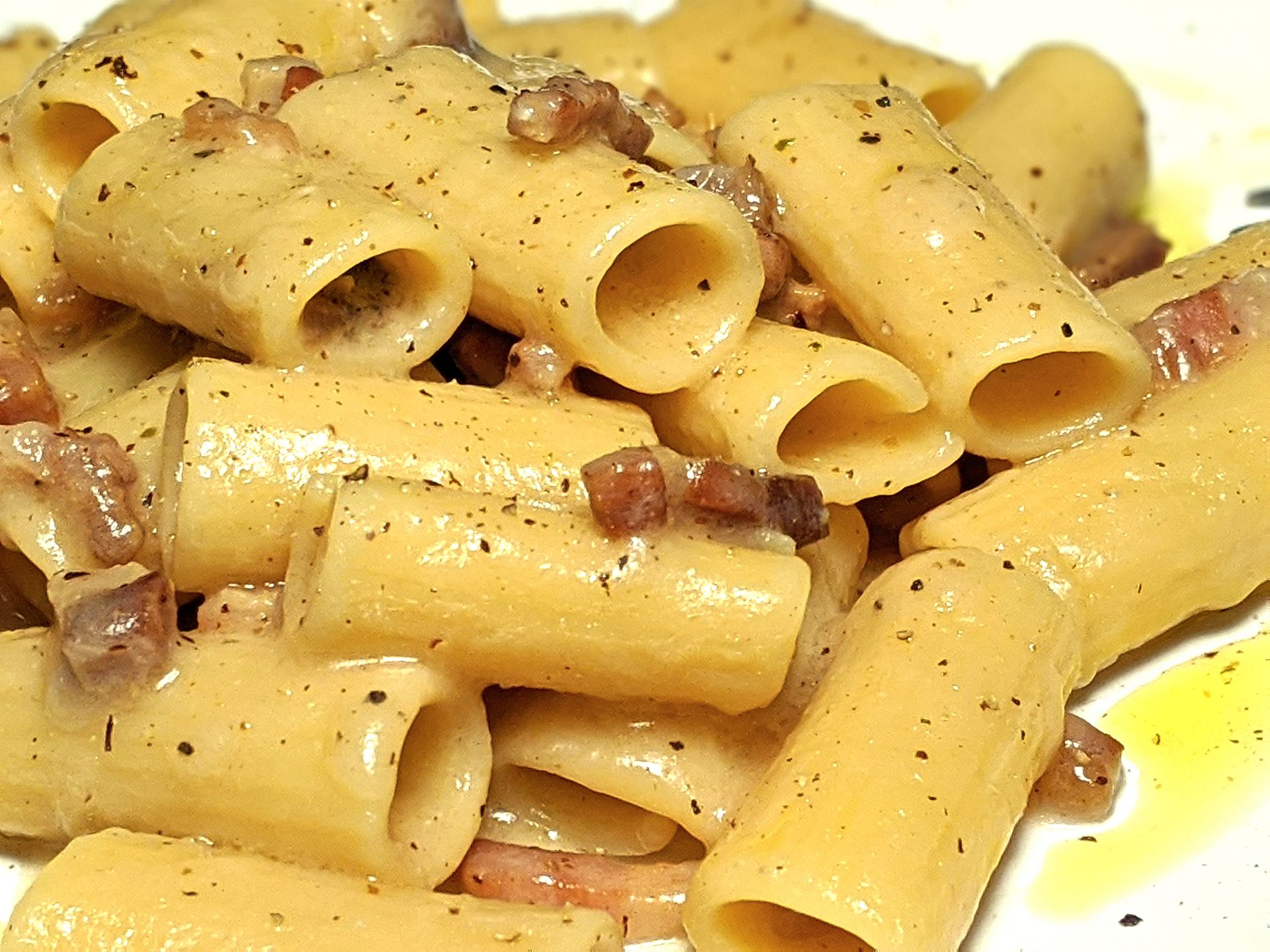 Pasta alla gricia ~ Main courses Recipes  ~ La ragazza col mattarello