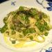 Pasta con alcachofas, espárragos y guisantes (Pasta primavera con asparagi, carciofi e piselli)