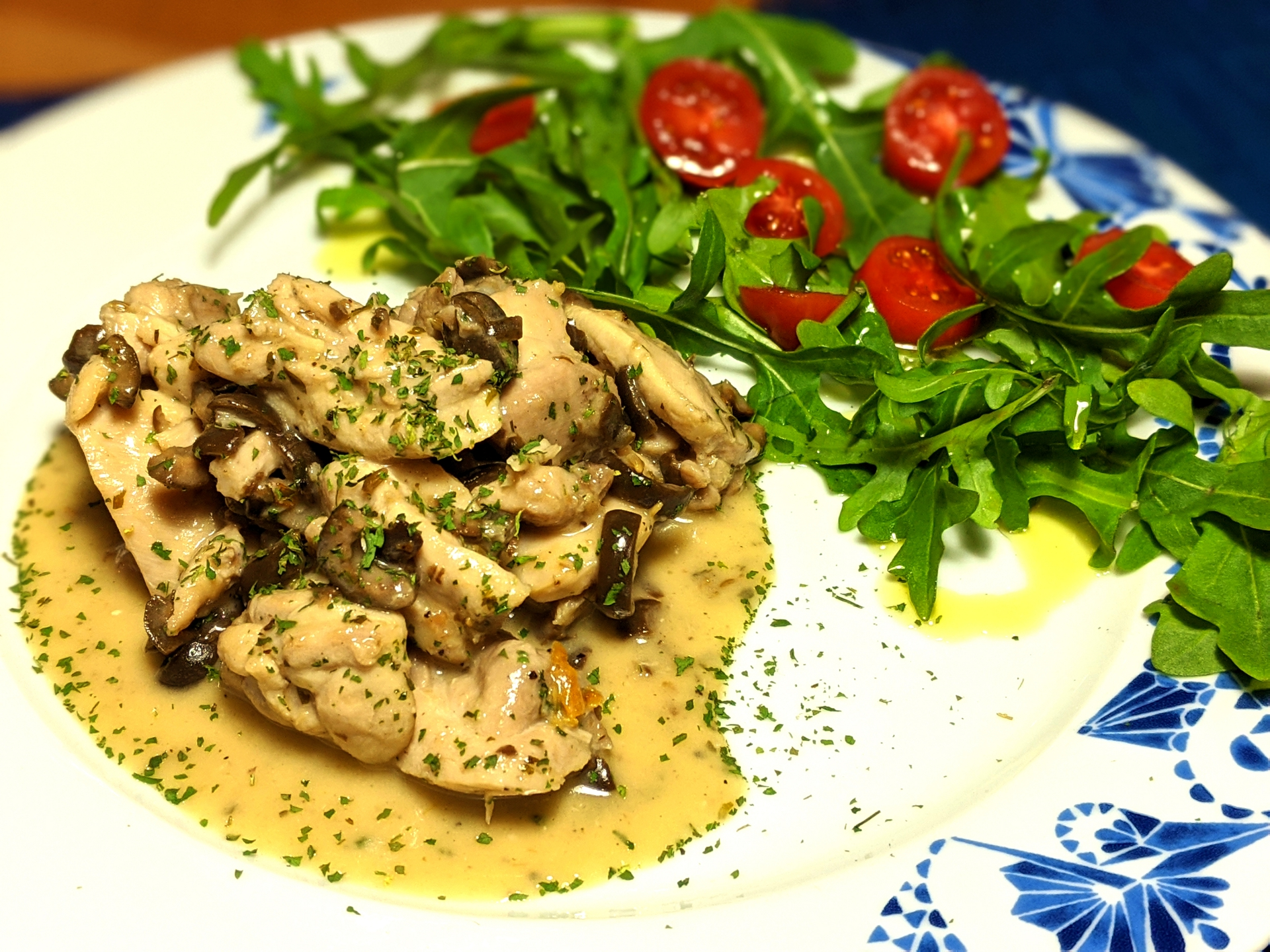 Chicken stew with olives (spezzatino di pollo con le olive) ~ Recipes Second courses  ~ La ragazza col mattarello
