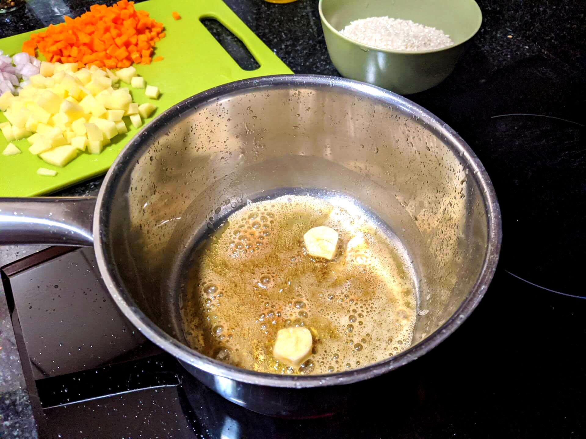 Risotto de patata y zanahoria ~ Primeros Recetas  ~ La ragazza col mattarello
