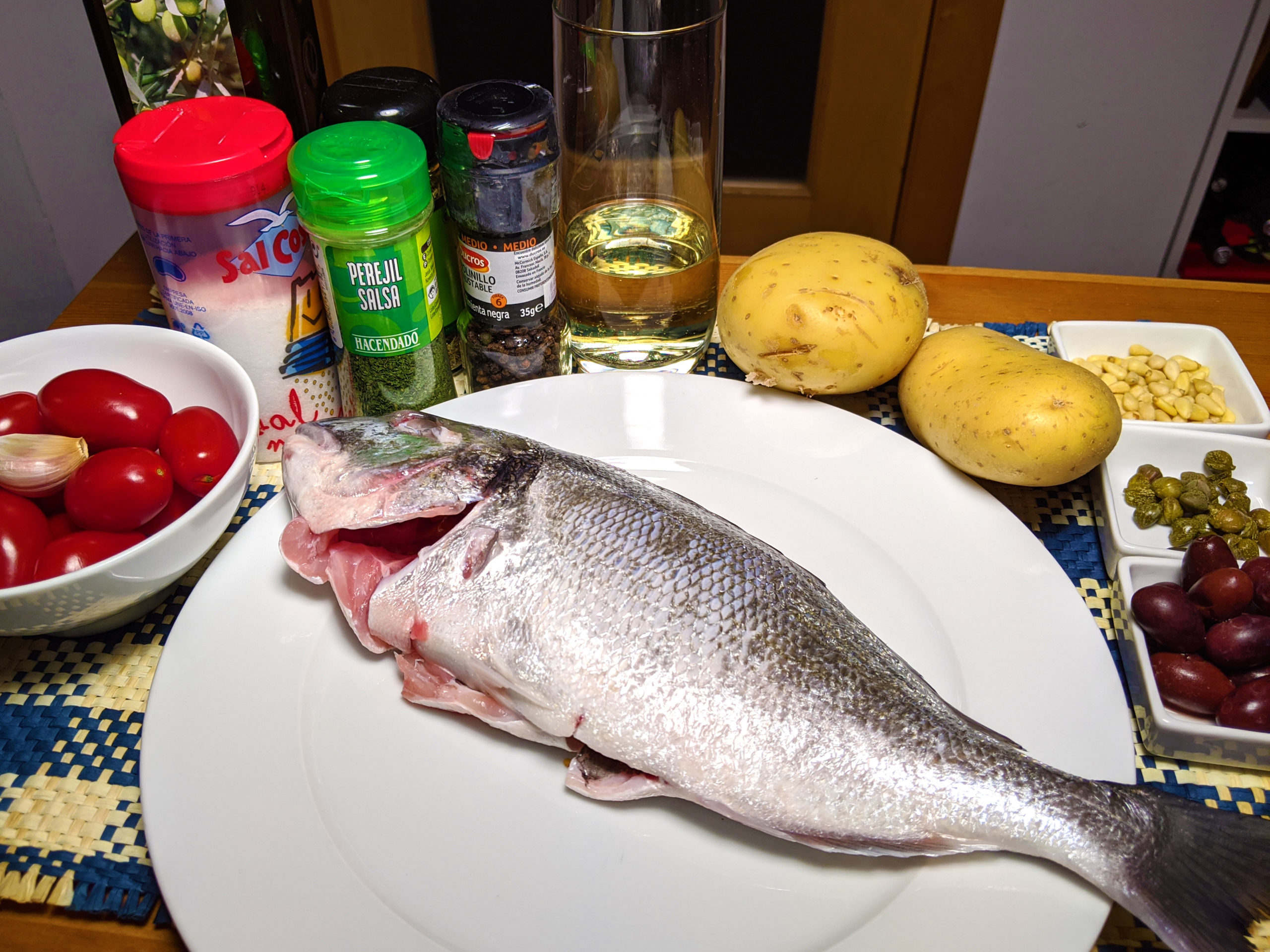 Baked gilthead bream (orata alla ligure) ~ Recipes Second courses  ~ La ragazza col mattarello