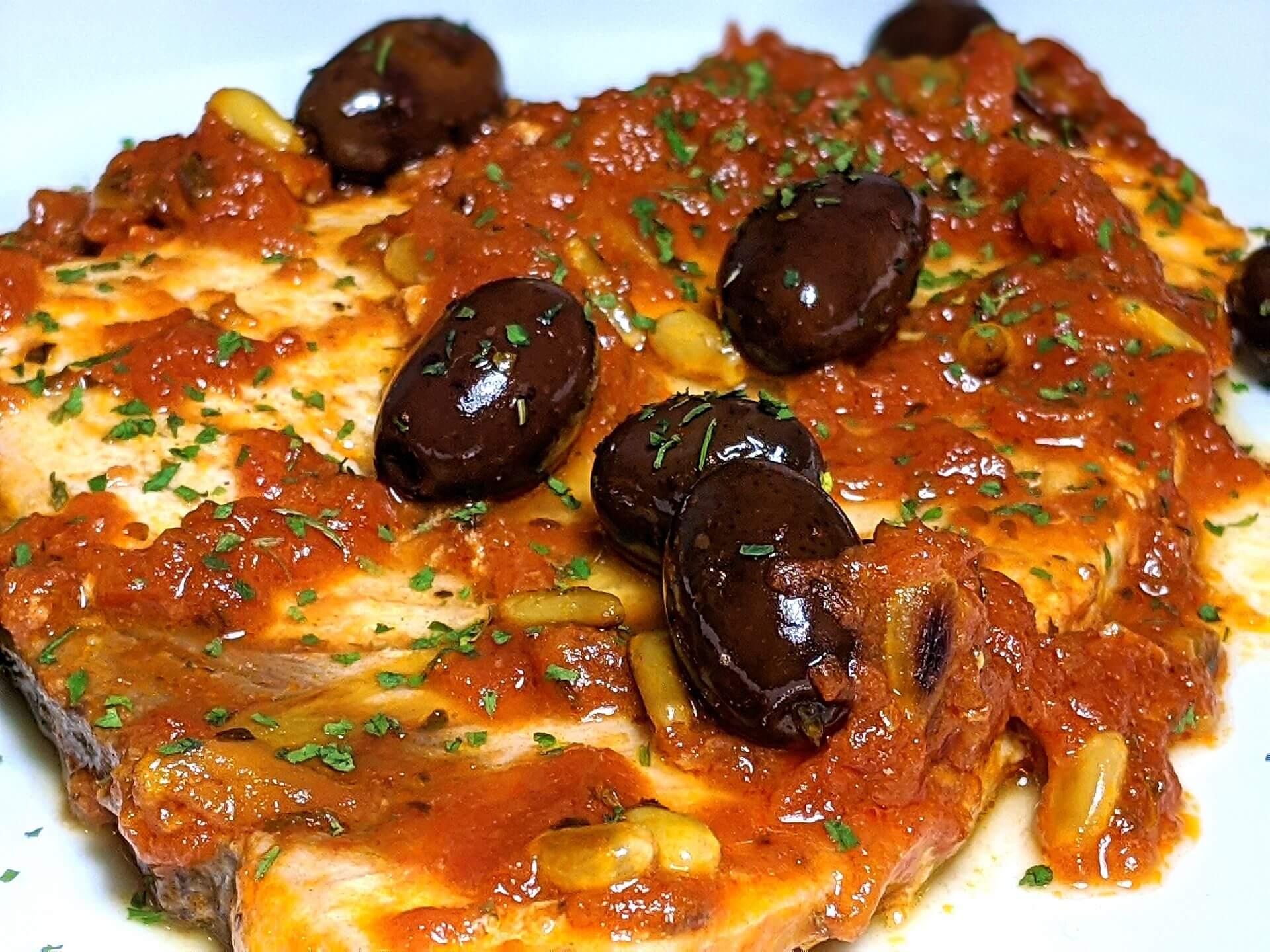 Swordfish Sicilian style (pesce spada alla siciliana) ~ Recipes Second courses  ~ La ragazza col mattarello
